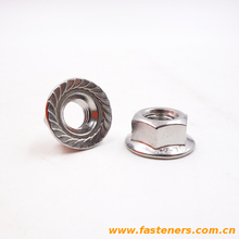 Flange nut DIN6923 Hexagon Nuts With Flange stainless steel 304,316,316L
