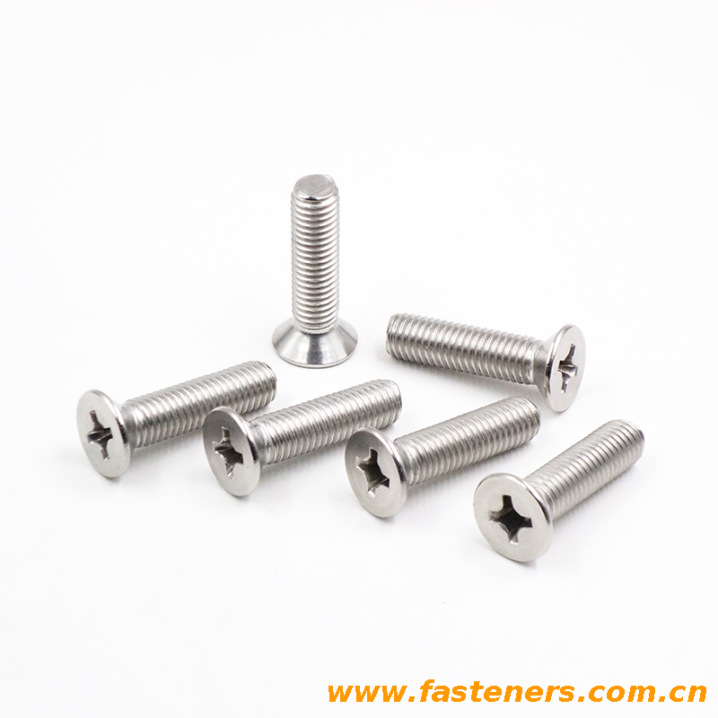 stainless steel 304 GB/T819 Countersunk Flat Head Screws With Cross Recess